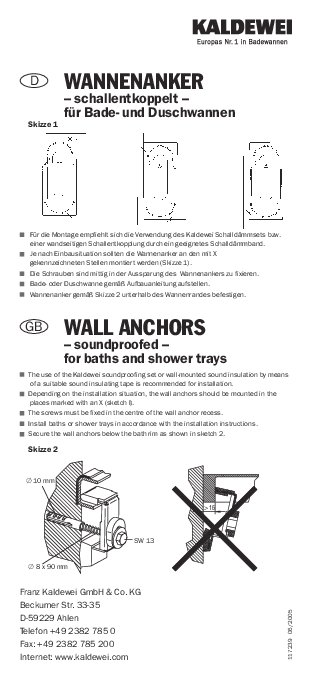 Wall anchors