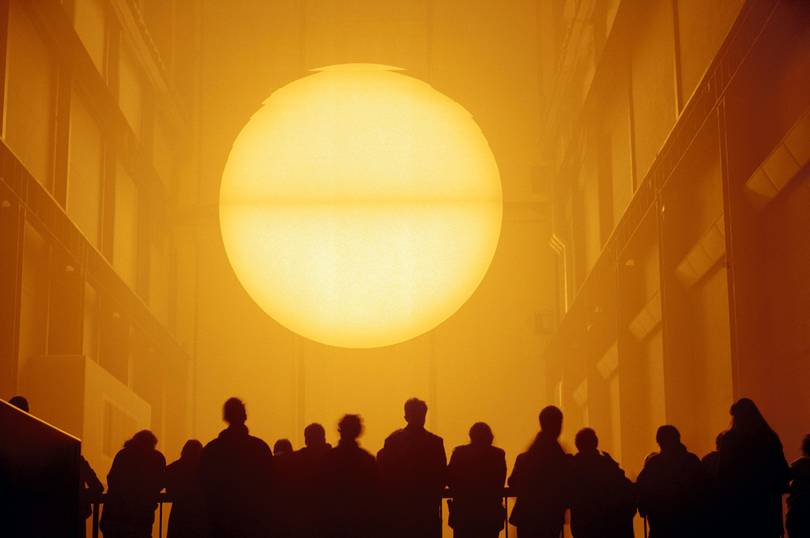 Installation The Weather Project by Olafur Eliasson in Tate Modern.