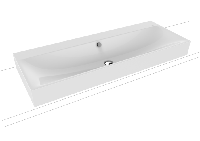SILENIO COUNTERTOP DOUBLE WASHBASIN (HEIGHT OF RIM 120 MM)